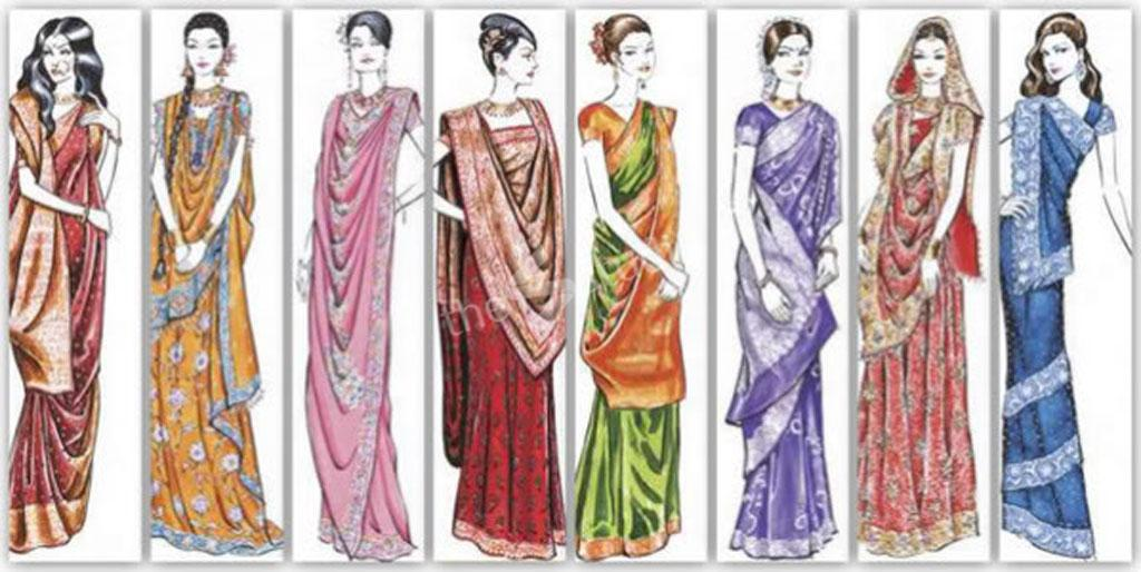 Draping styles images saree How to
