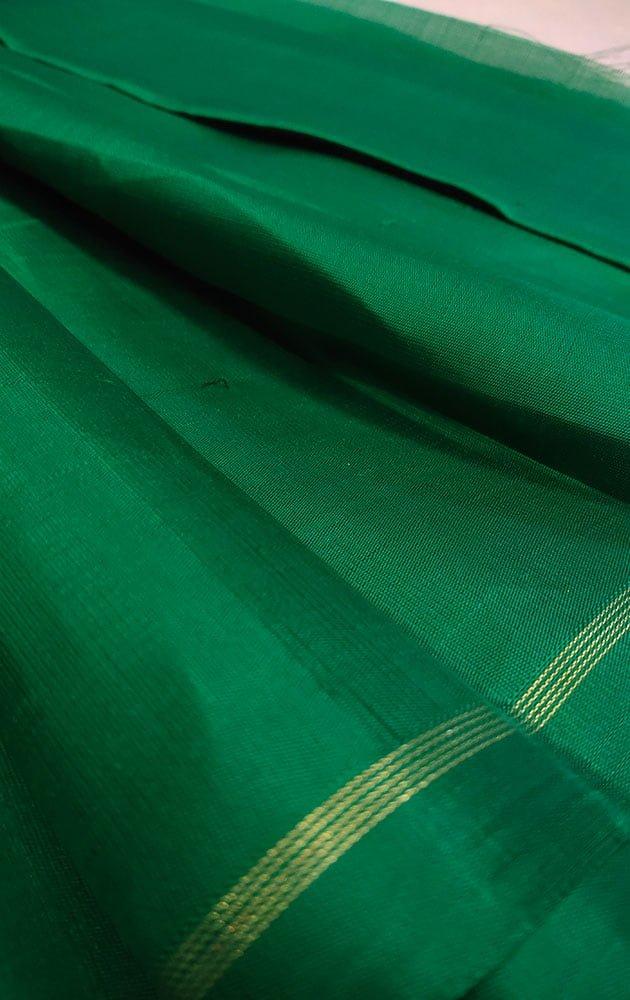Green Kanchi Silk Plain Blouse