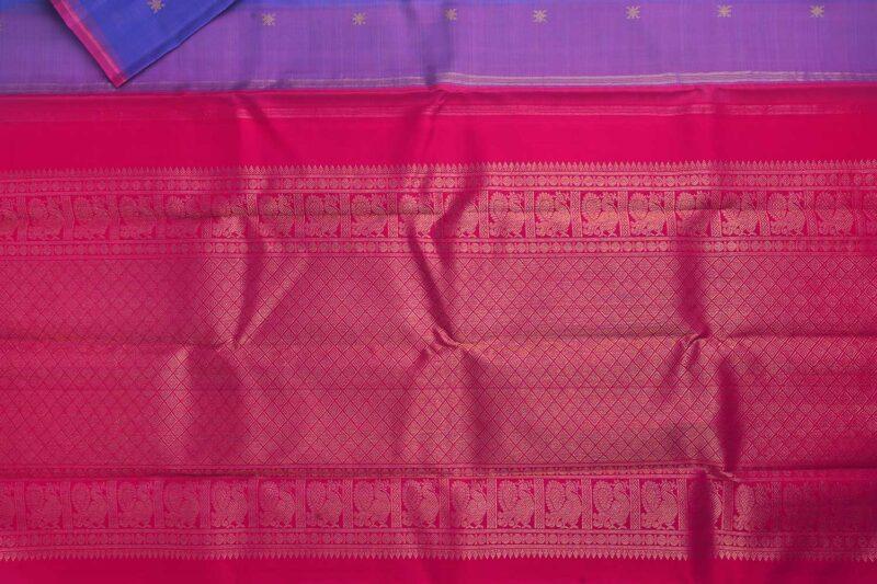 Lilac kora kanchipuram silk saree
